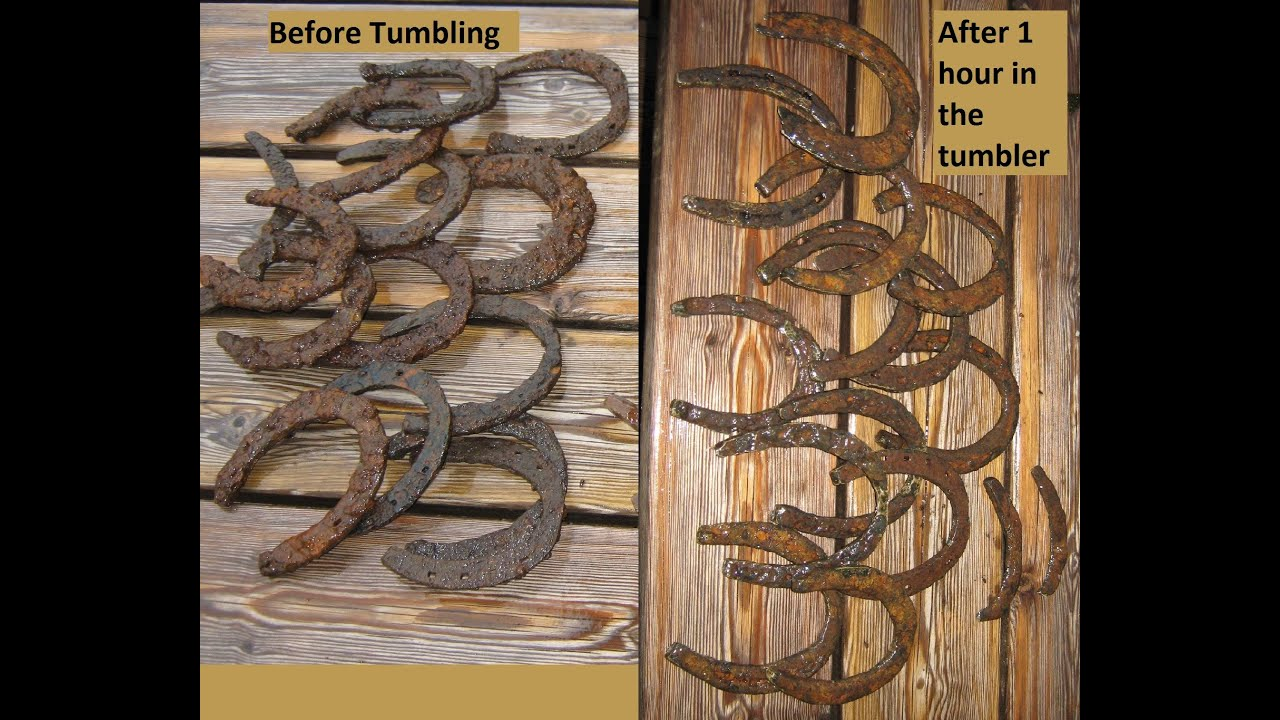 Iron Tumbler Horseshoes Before And After