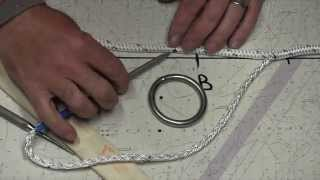 Double braided rope eye splice on ring