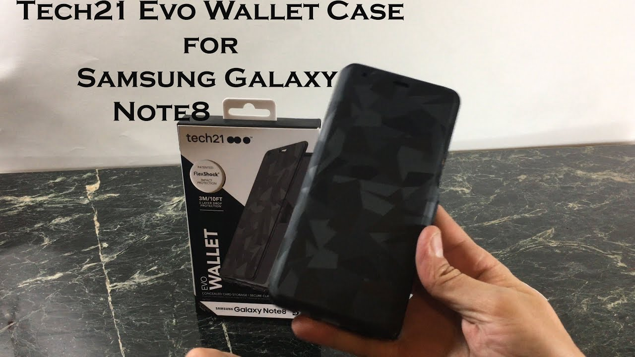 more photos 90005 b03a9 Tech21 Evo Wallet Case for Samsung Galaxy Note 8 : Review and Unboxing