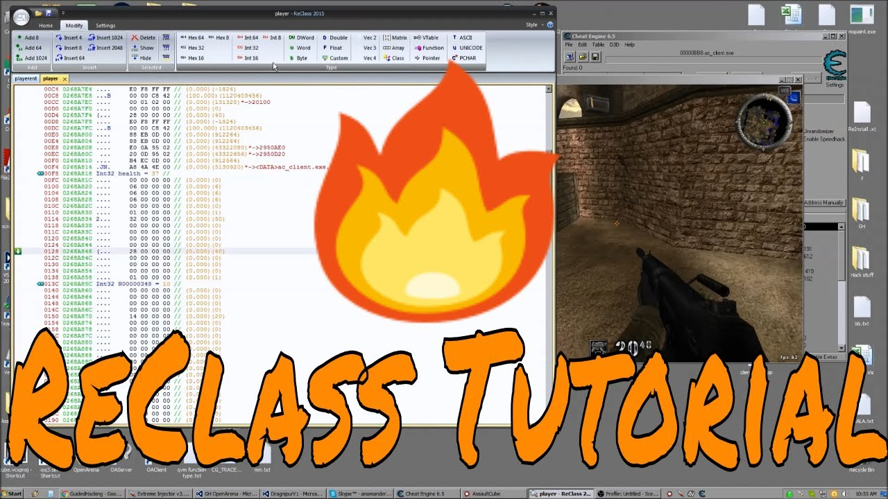 Video Tutorial - Game Hacking with Reclass Tutorial | Guided