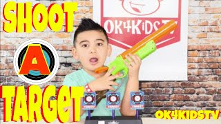Keelans Toy Review - Shoot a Target for NERF   ok4kidstv video 261