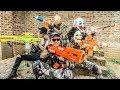 LTT Films : Silver Flash Warriors Nerf Guns Fight BIGMAN Mask Weapons of Destruction