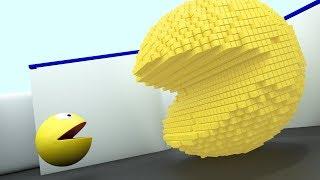 Pacman 3D vs 2D - Pixels Pacman