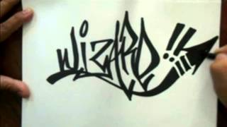 How to tag a graffiti name (WIZARD) - how to draw graffiti name