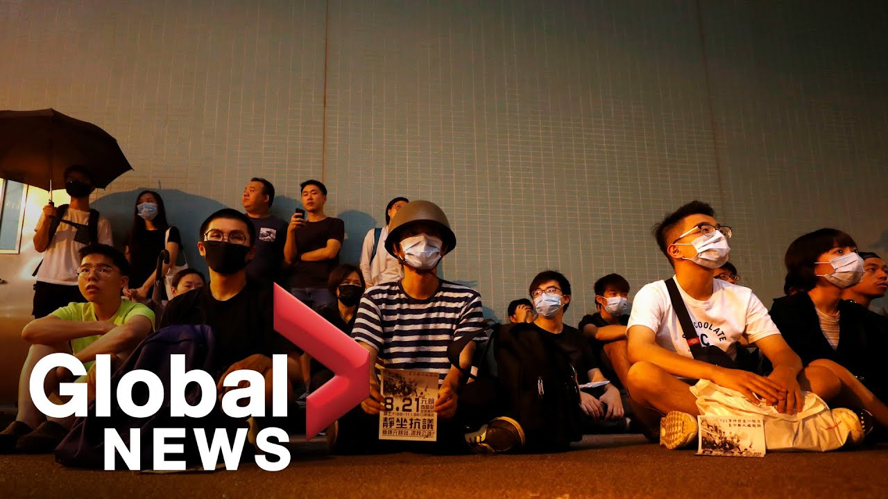 Hong Kong protesters stage silent sit-in at Yuen Long MRT station | FULL