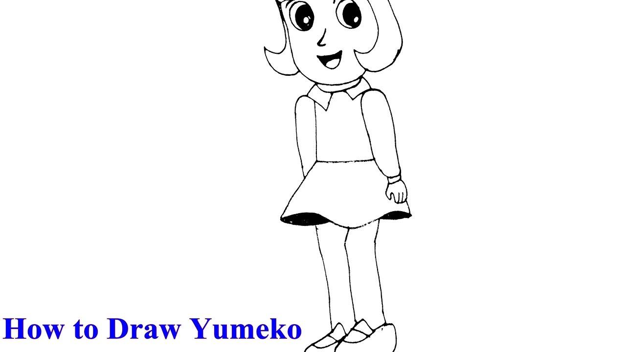 How To Draw Yumiko From Ninja Hattori Youtube
