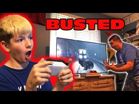 Kid Temper Tantrum Steals TV To Play GTA 5 In His Bedroom - Grounded!