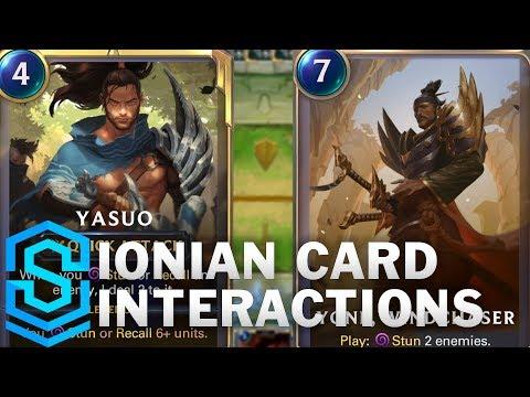 Ionian Card Special Interactions - Yasuo, Zed, Karma, Shen, Yone etc