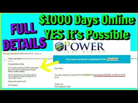 Legitimate Ways To Make Money Online - $1000 Online Power Lead System - Master Traffic Institute