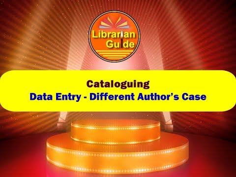 4. Data Entry - Different Author's Case