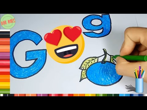 Draw and color letter G with Rio kids🎨Learn simple alphabet💖Rio Kids