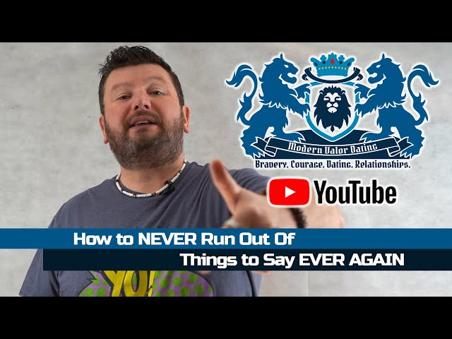 How To NEVER Run Out Of Things To Say EVER AGAIN
