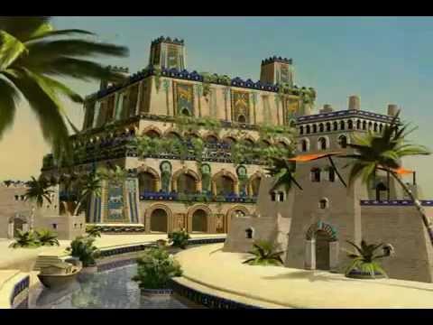 jardines colgantes de babilonia youtube