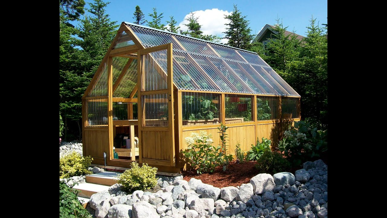 Greenhouse kits from greenhouse plans watch us assemble a for Green small house plans