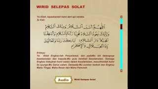 WIRID SELEPAS SOLAT