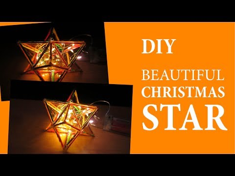 How to Make a Beautiful Christmas Star Using Wood Sticks