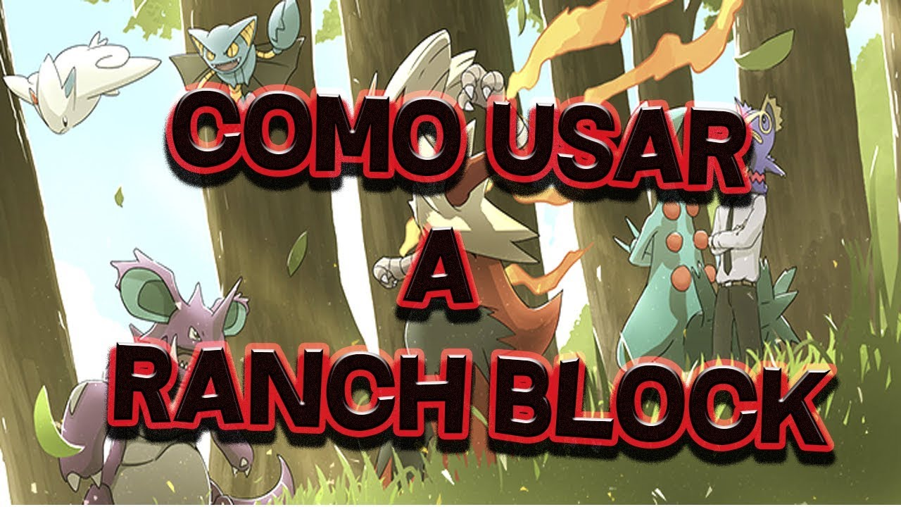 Minecraft Pixelmon Como Usar A Ranch Block !!!