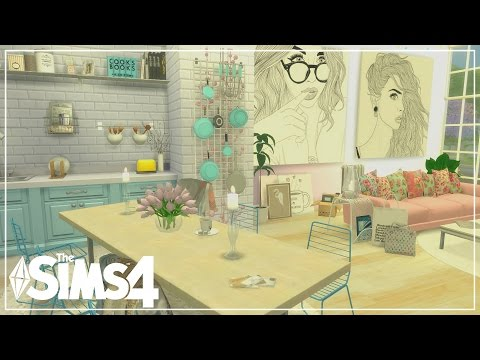 The Sims 4| Apartment Build | PASTEL LOFT Apartment (Speed Build)