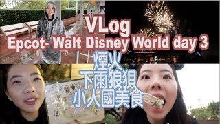 『廚娘Vlog』迪士尼Epcot狼狽又走累的一天,看美麗煙火!Penny❤
