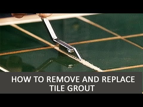 how to remove and replace tile grout youtube. Black Bedroom Furniture Sets. Home Design Ideas