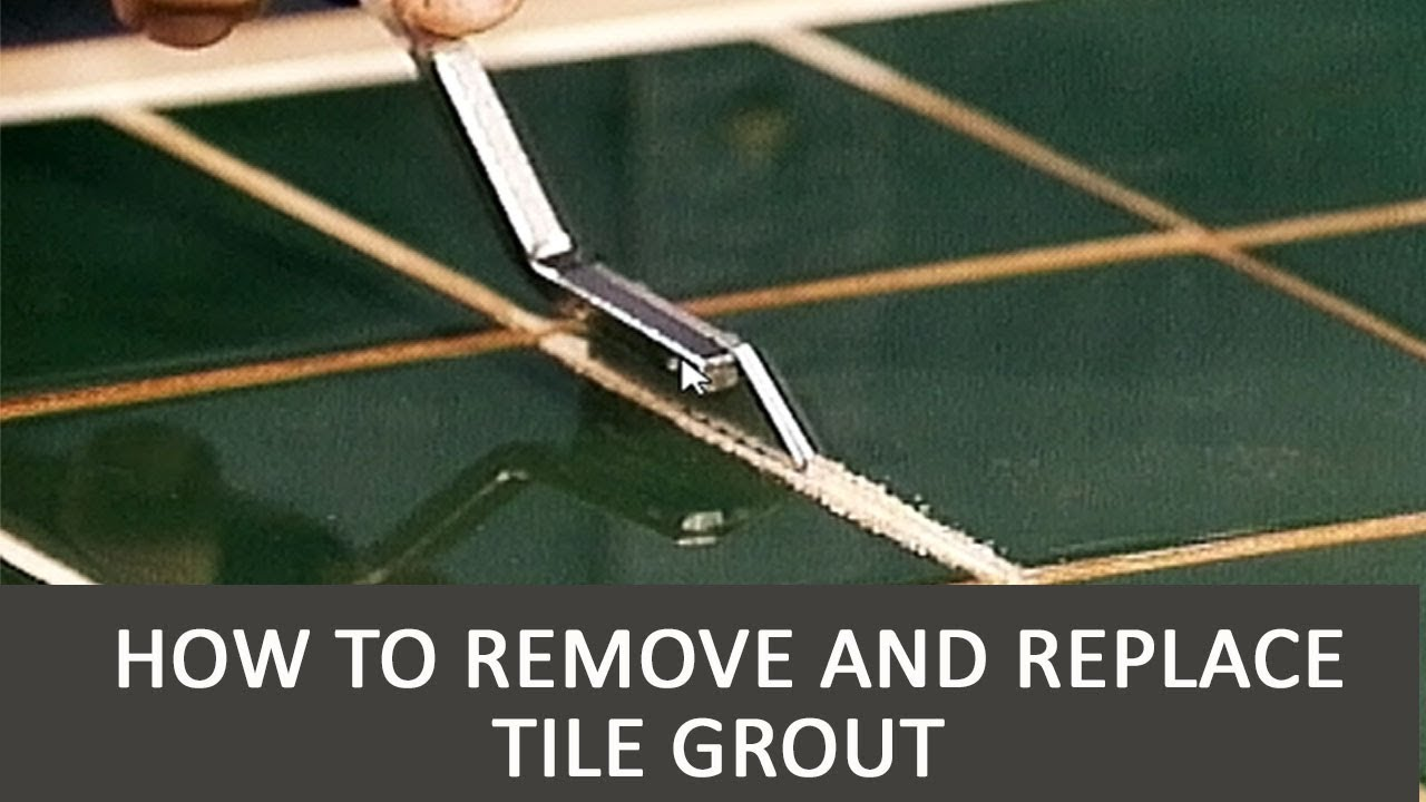 How To Remove And Replace Tile Grout Youtube