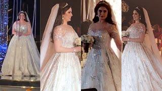 شاهد اطلاله العروس رؤى الصبان بالفستان الابيض