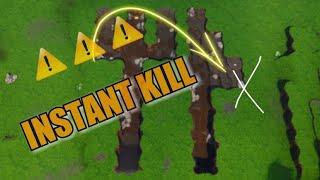 DANGER glitch FORTNITE, Instant kill near FORK KNIFE. l'endroit dangereux de FORTNITE
