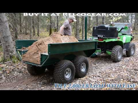 MUTS ATV Dump Trailer - - Heavy Duty - 2,000 Lb Capacity - Tandem Axle - Walking Beam