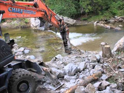 Groton #9 dam removal in less than 1 minute
