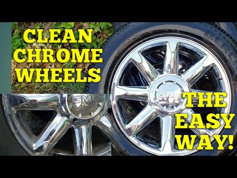 HOW TO CLEAN CHROME WHEELS FAST AND EASY! USING STEEL WOOL!