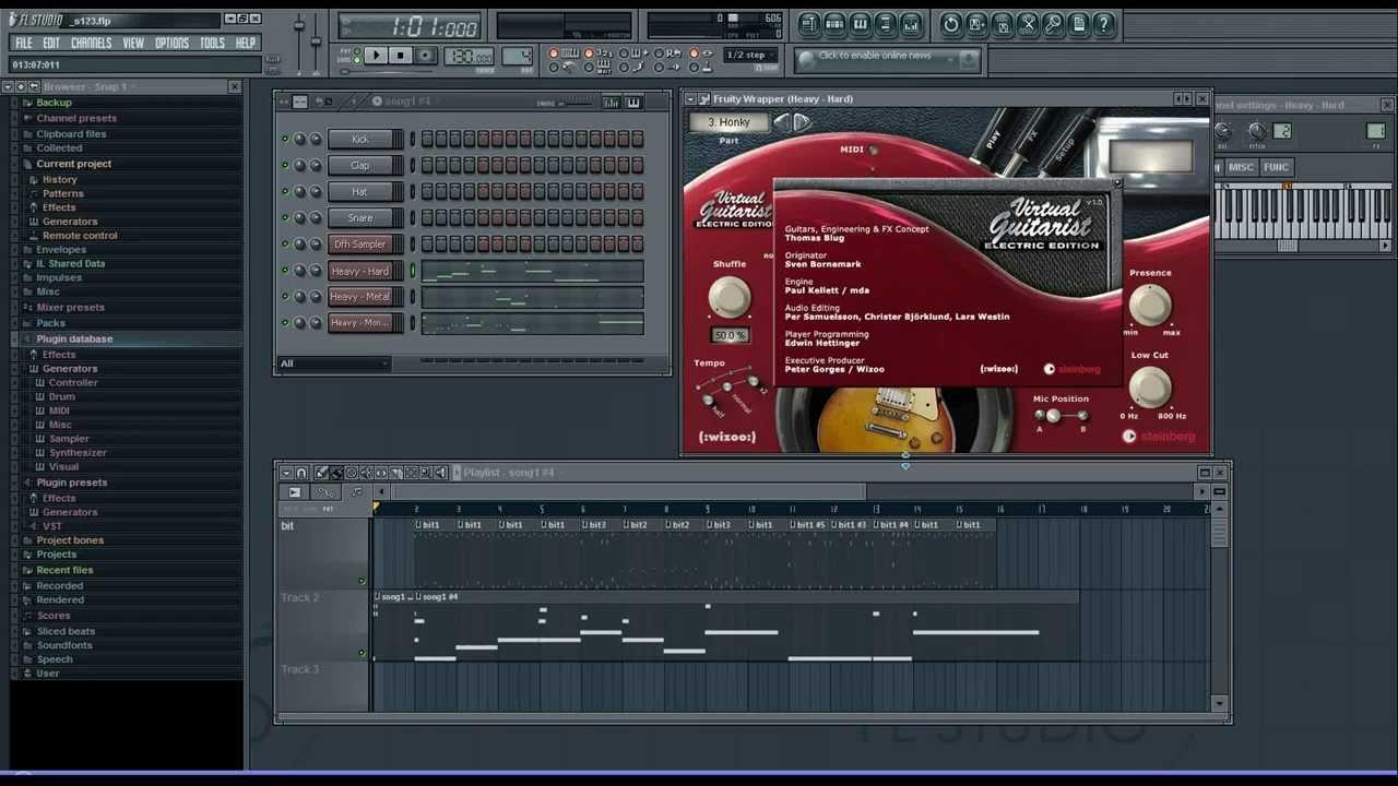vst steinberg virtual guitarist test example fl studio youtube. Black Bedroom Furniture Sets. Home Design Ideas