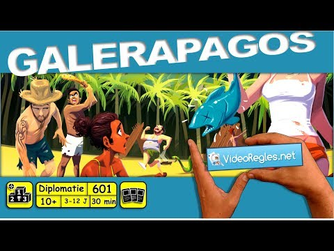 """Vidéorègle du jeu de société """" Galèrapagos """" par Yahndrev (#601)(+sub)"""