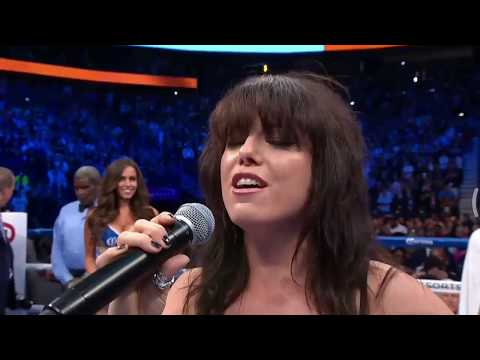 Imelda May singing Irish National Anthem  at Mayweather-McGregor bout