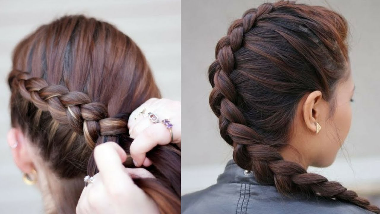 French Braided Hairstyle Steps Easy New Hair Style Hair Styles