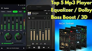 Top 5 Best Music Players | Equalizer Band | Bass Booster | 3D | Dolby Atmos Player screenshot 2