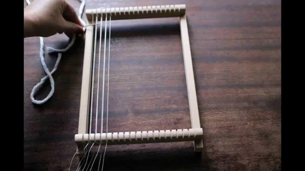 diy tissage comment monter son fil de cha ne sur son m tier tisser let 39 s go weaving youtube. Black Bedroom Furniture Sets. Home Design Ideas