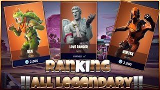 Ranking ALL 35 Legendary Fortnite Skins! (Fortnite: Battle Royale Every Legendary Skin Ranked)