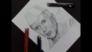 Pandit Jawaharlal Nehru drawing
