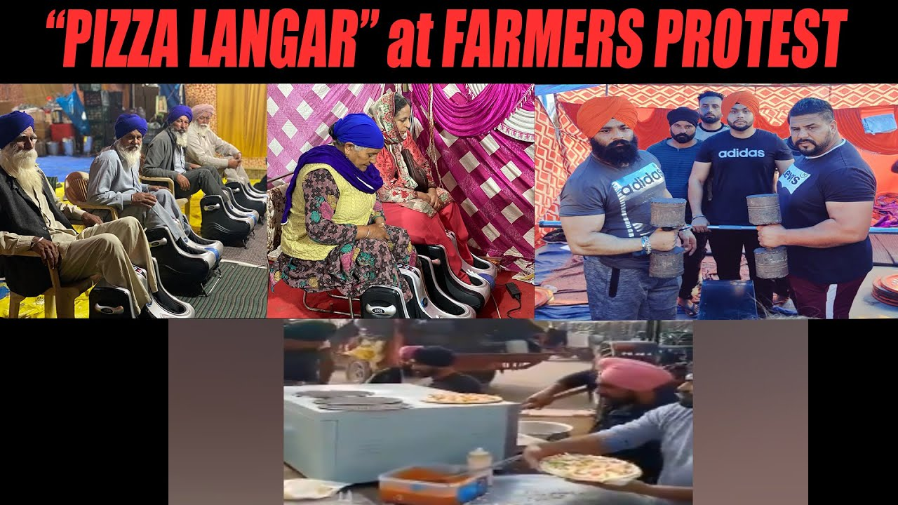Pizza Langar at Farmers Protest - YouTube
