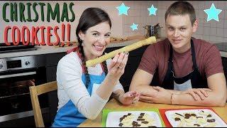 Making GERMAN CHRISTMAS COOKIES!! (Spritzgebäck with Mr. German Man)