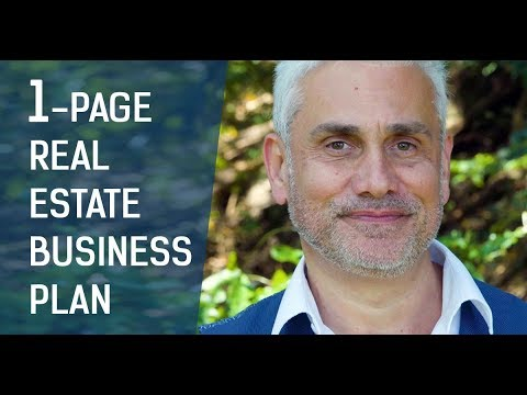 The 1-page Real Estate Business Plan