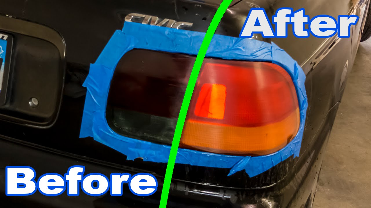 How to: Restore a Tinted / Smoked Tail Light - YouTube