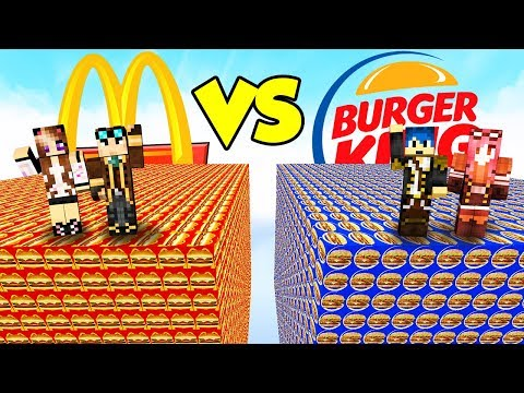 LUCKY BLOCK del MCDONALD'S contro BURGER KING! - Lyon & Anna VS Stef & Phere