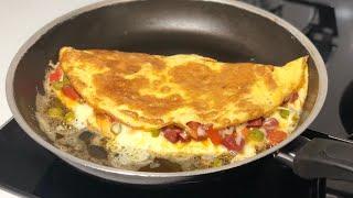 Omletin En Güzel Tarifi-Kahvaltıya Farklı Ve Lezzetli Karışık Omlet/Seval Mutfakta