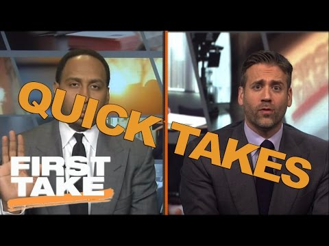 Quick Takes On Derek Jeter, LeGarrette Blount, And Marshawn Lynch   First Take   April 26, 2017