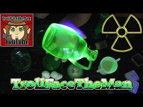 Radioactive Glass!? Glass made with Uranium..?