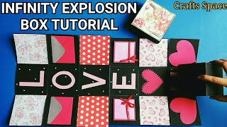 Infinity Explosion Box Tutorial | Rolling Cube Tutorial | By Crafts Space