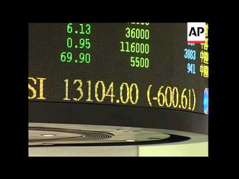 Asia stock markets tumble, SKor, Japan, HKong down nearly 4 percent