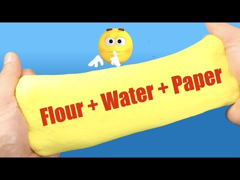 How To Make Slime With Flour And  Water!! DIY Slime Without Glue, Borax or Activator | Slime At Home