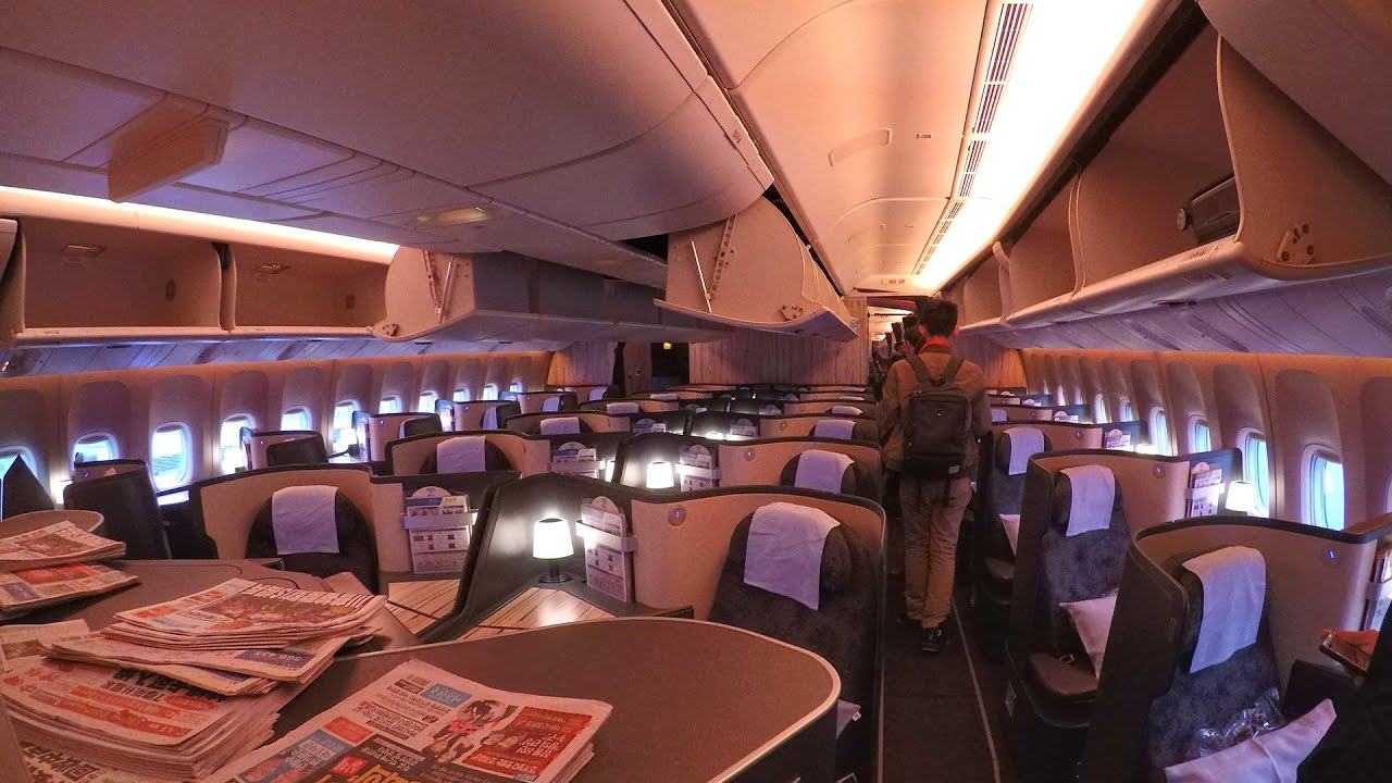 Turkish Airlines Business Class China Airlines 777-300...